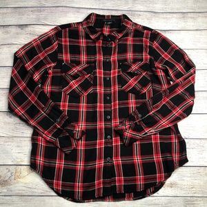 Sanctuary Plaid Long Sleeve Boyfriend Shirt